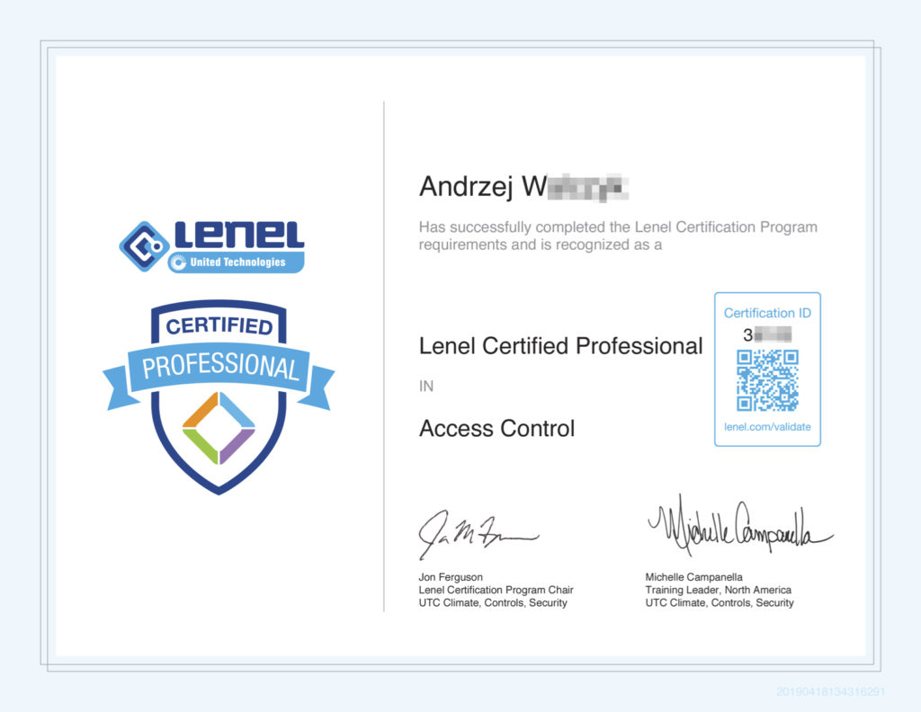 Lenel_Certified_Professional_Access