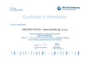 Certyfikat-Edwards_EST3